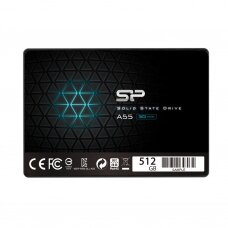 """Silicon Power A55 512 GB, SSD form factor 2.5"""", SSD interface SATA, Write speed 530 MB/s, Read speed 560 MB/s"""