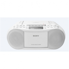 Sony CD/Cassette Boombox with Radio CFDS70W Cassette deck, FM radio, CD player, Headphone out