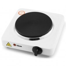 Tristar Free standing table hob KP-6185 Number of burners/cooking zones 1, Rotary, Black, White, Hot plate, Electric