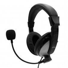 Wired headphones with microphone TURDUS 2x 3,5 mm MT3603