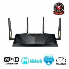 Wireless Router ASUS Wireless Router 6000 Mbps IEEE 802.11n IEEE 802.11ac IEEE 802.11ax USB 1 WAN 8x10/100/1000M Number of antennas 4 RT-AX88U
